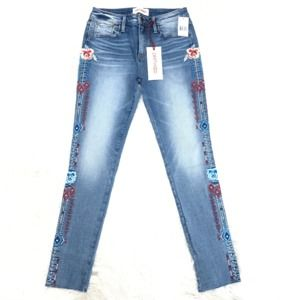 """DRIFTWOOD JACKIE FLORAL RODEO JEANS SIZE 26 """"NWT"""""""